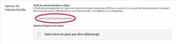 aperçu ebook kindle outil prévisualisation