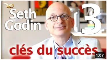 exemple d'une miniature YouTube avec le visage de Seth Godin