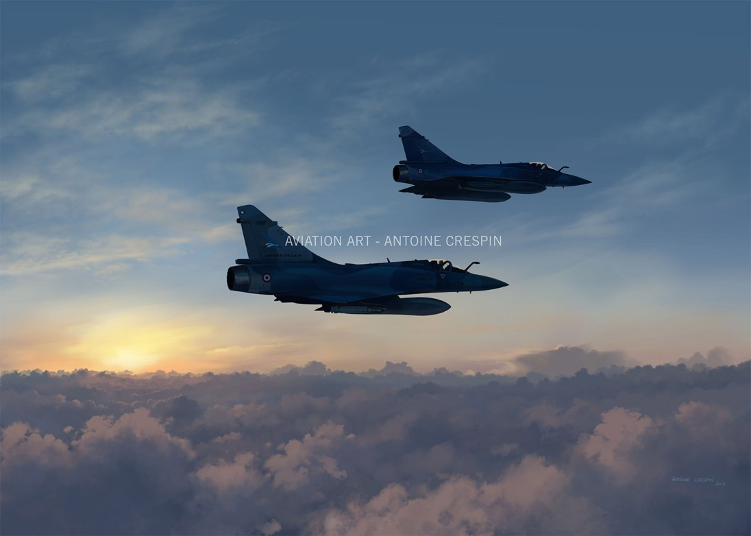 Mirage 2000-5 cloud surfing