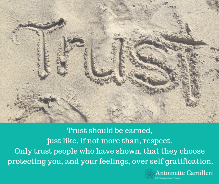 Give trust only where it is due