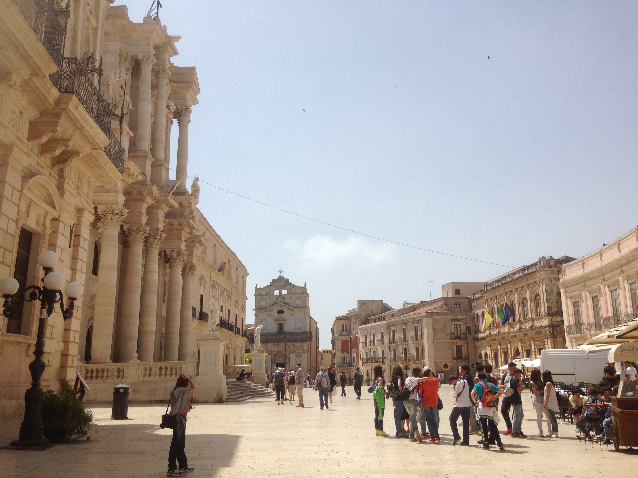 Cathedral Square in Ortigia Syracuse, Sicily