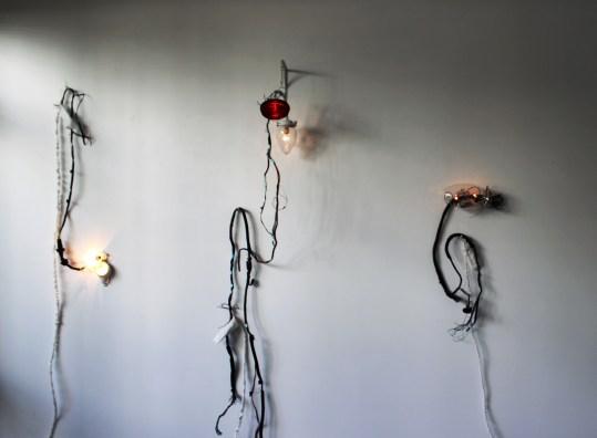 Installation shot of Porch Light series by FIONA JOHNSTONE
