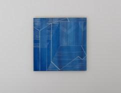 Diane Scott, The Quickening Ground, Enamel and aluminium 400 x 400mm