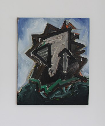Toby Raine, (Baron Yeti Lives!) Judas-Harvey Keitel with beard (last temptation of Christ), Oil on linen 500 x 600mm
