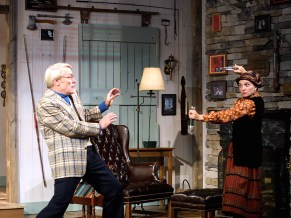 as Helga ten dorp with Kirk Jackson in DEATHTRAP at Dorset Theatre Festival, directed by Giovanna Sardelli