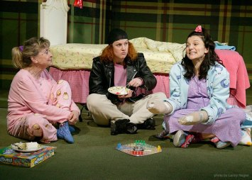 as Pattie with Rosemary Prinz and Colleen Quinlan in KIMBERLY AKIMBO at Hartford TheaterWorks