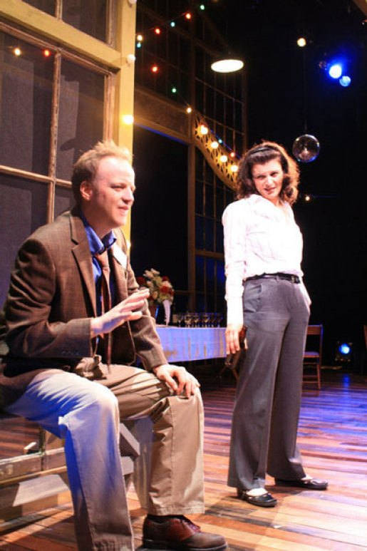 as the Narrator with Jeremiah Wiggins in THE PAVILION at Dorset Theatre Festival, directed by Giovanna Sardelli