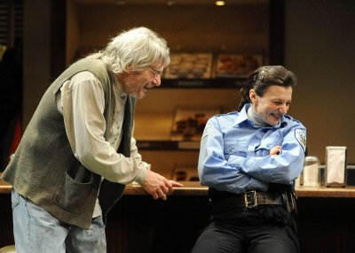 as officer Randy Osteen with Anderson Matthews in SUPERIOR DONUTS at the Pittsburgh Public Theater, directed by Ted Pappas