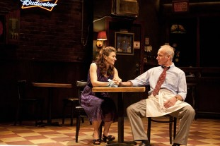 Antoinette LaVecchia as Stella opposite Bill Geisslinger as Lou in Bruce Graham's STELLA AND LOU, directed by Charles Towers.