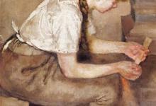 Photo of فتاة تُشعل النار في الموقد – لوحة لـ إدفارت مونك