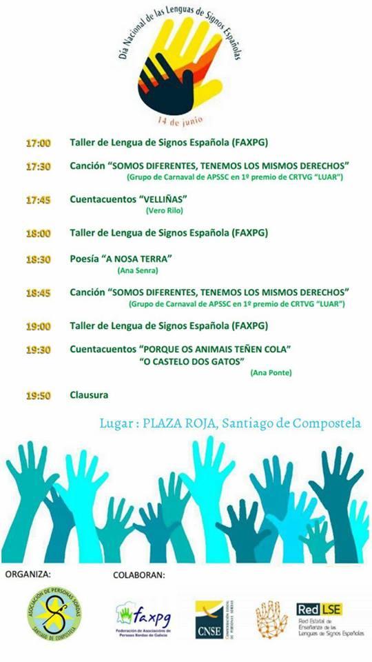 Día de las Lenguas de Signos Españolas. Actividades en la Praza Roxa