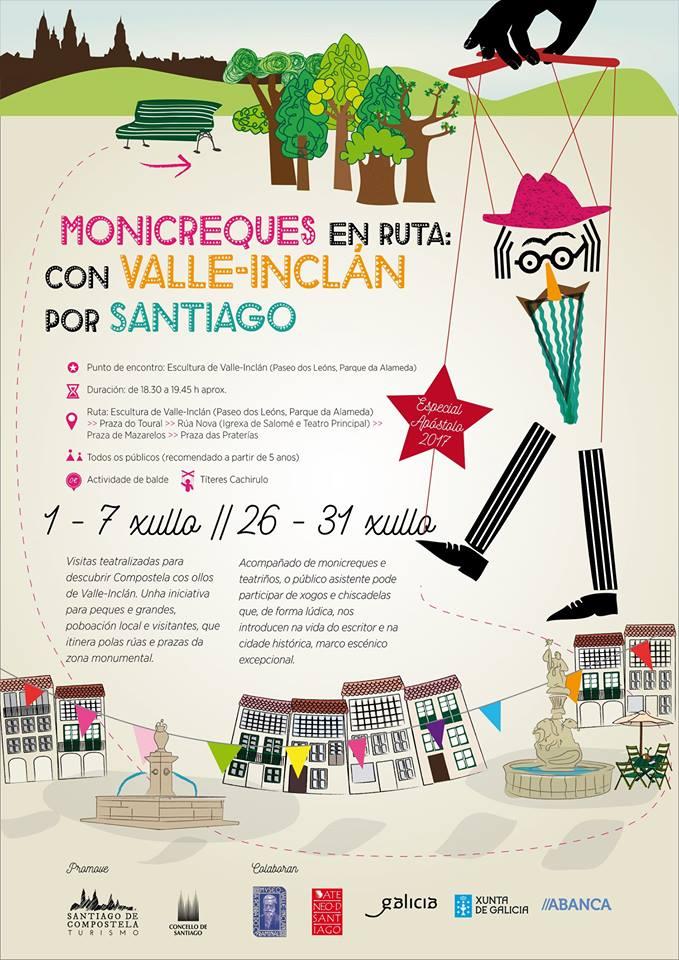Monicreques en ruta: con Valle-Inclán por Santiago. Títeres Cachirulo. Axenda de Antonautas na Iagosfera