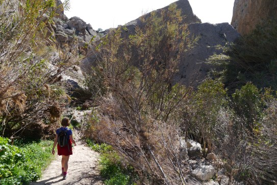 Walking in mountains nr Alfiax, Andalucia, Spain.