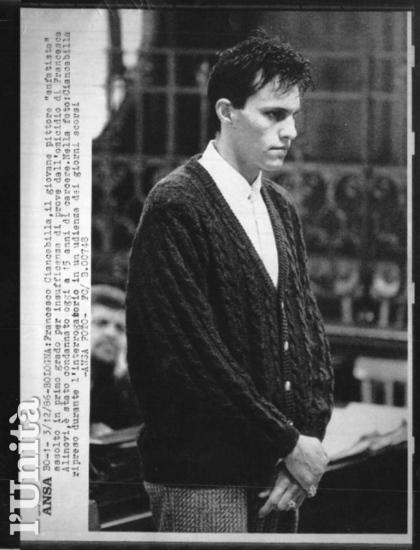 Francesco Ciancabilla durante il processo di primo grado - Archivio L'Unita'