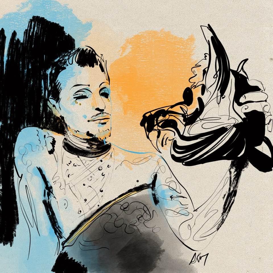 antonella martino live drawing