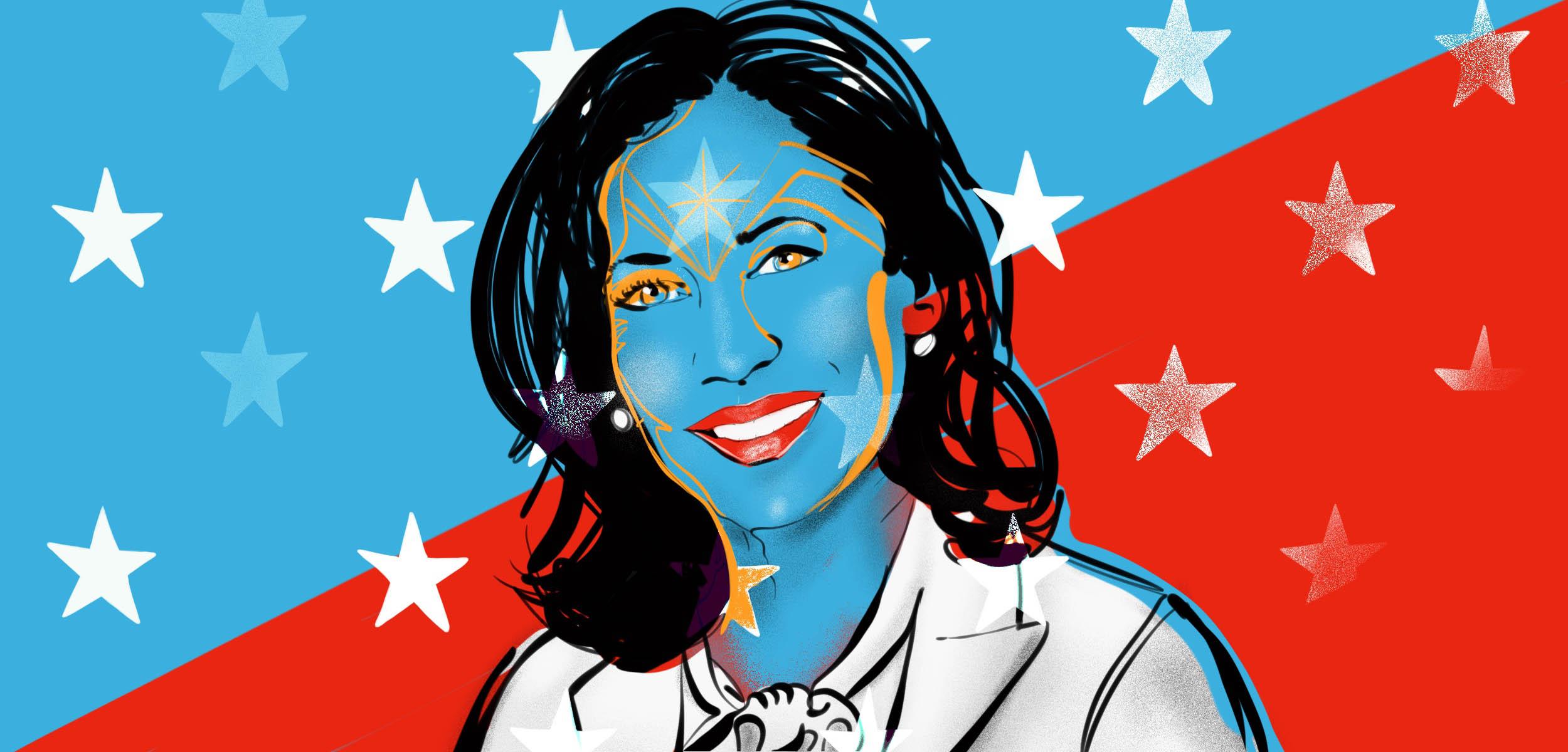 Kamala Harris Illustration portrait