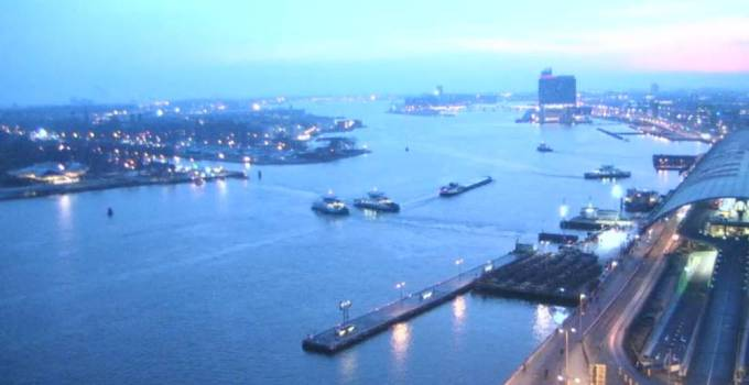 Daybreak over the IJ, Amsterdam
