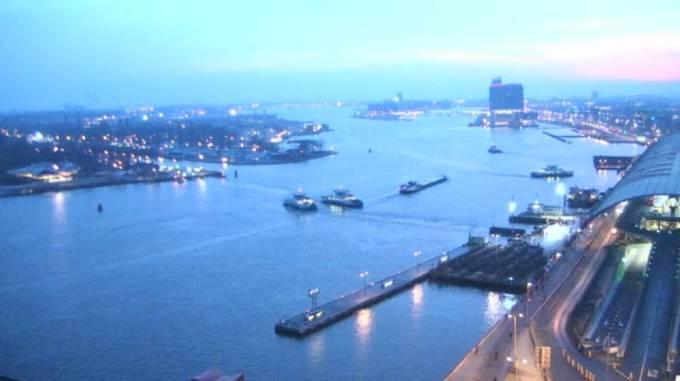 Daybreak over the IJ, Amsterdam