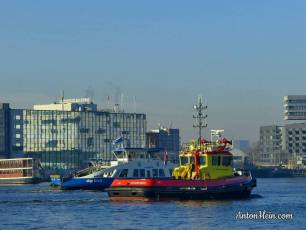 Pilot boat and ferry