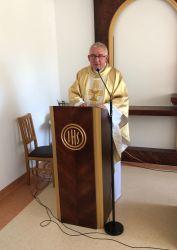 Pierwsza Msza św. w nowej kaplicy Domu Pomocy Społecznej. Wielkanoc 2019