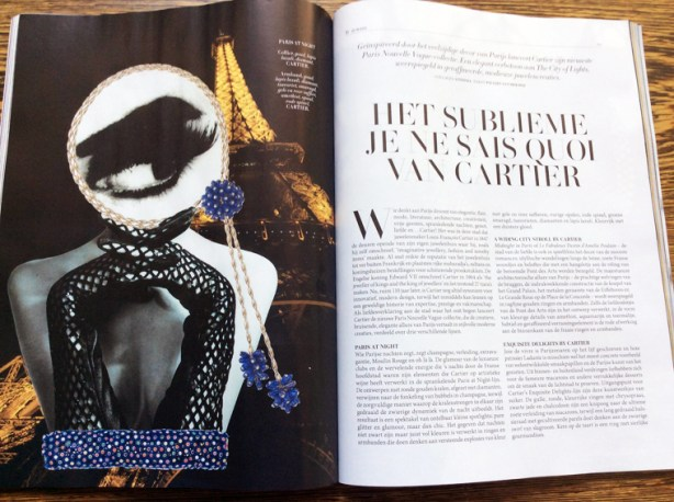 L'Officiel: Cartier jewelry Oct/Nov. issue 2015