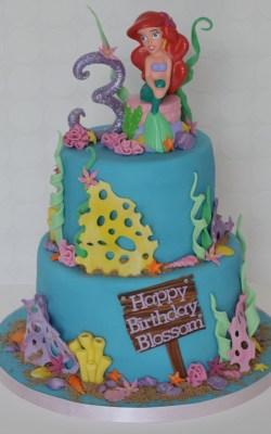 Bodacious All Occasions Girls Birthday Cakes Walmart Ideas Little Mermaid
