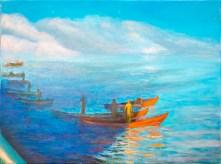 """Congregation"" 18"" x 24"" oil on canvas © Antonio Dias"