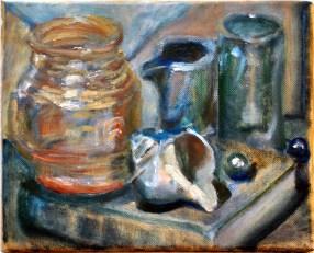 """""""Dear Theo"""" 10"""" x 8"""" oil on canvas"""