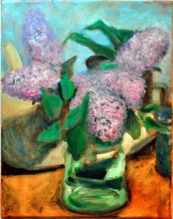 """Lilac Blossoms"" 11"" x 14"" oil on canvas, © Antonio Dias"