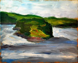 """Rodger's Island, Lubec, Maine,"" oil on panel, 14.25"" x 11.5"" © Antonio Dias"