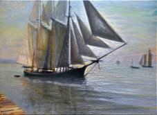 """The Last of the Flood"" 18"" x 24"" oil on canvas © Antonio Dias"