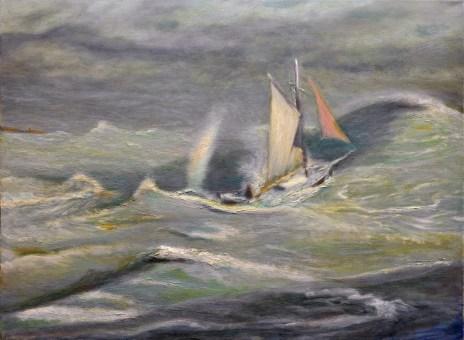 """Backing Around to the North"" 18"" x 24"" oil on canvas © Antonio Dias"