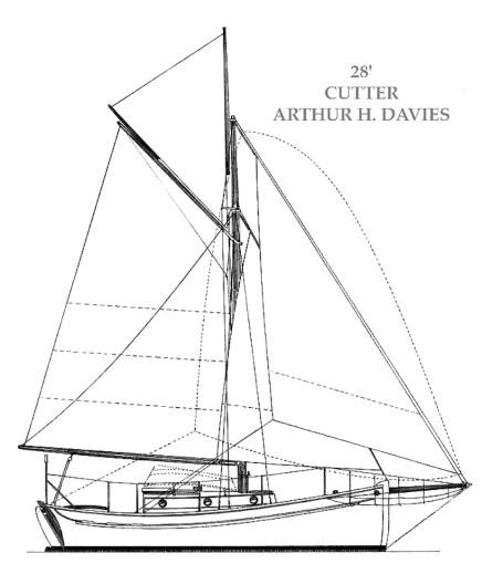 Arthur H Davies, Gaff Cutter