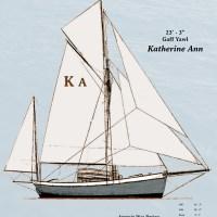 a Gaff Yawl, Katherine Ann