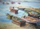 Barcas en la ría de Arosa, 70x50, 120 €