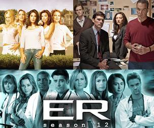 Desperate Housewives, Criminal Minds, ER