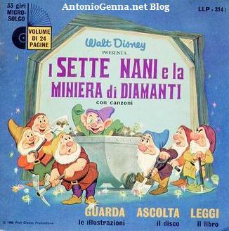 """Il disco """"I sette nani e la miniera didiamanti"""""""