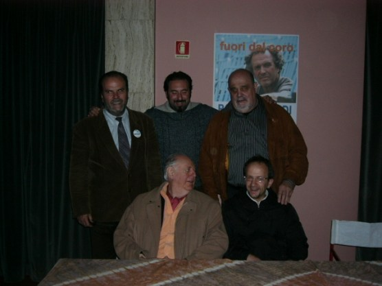 Con Dario Fo alla chiusura della campagna elettorale di Pancho Pardi a Firenze
