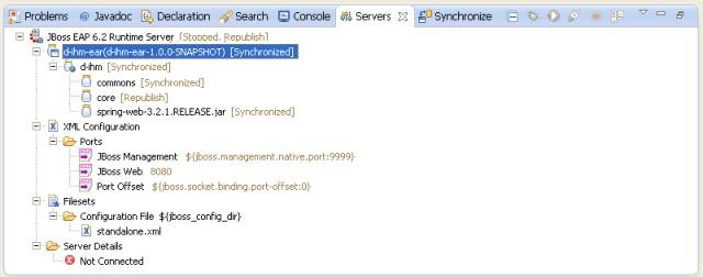 Eclipse Server screen