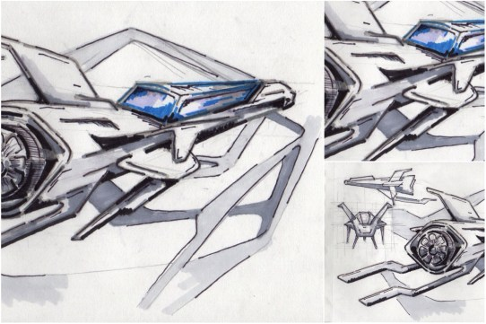 Visual 2D and 3D Development of a Comic Space Battle Mission by ALG [Teaser Shots] img_012
