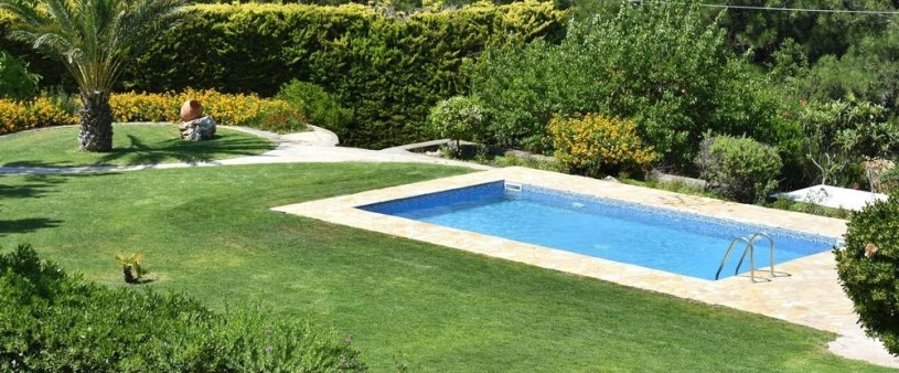 Garden and pool view