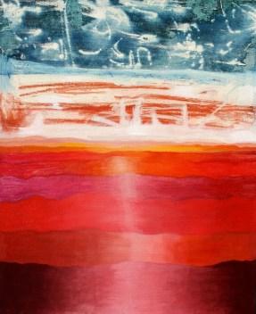 Paisaje abstracto, mixta/lienzo
