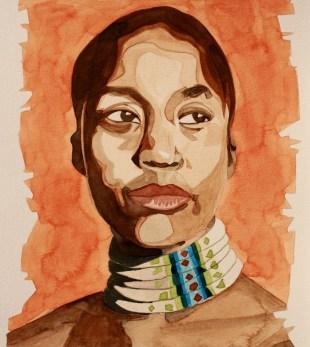Rokia Traoré, Acuarela sobre papel