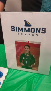 One of my students going to Simmons, Go Sharks!!
