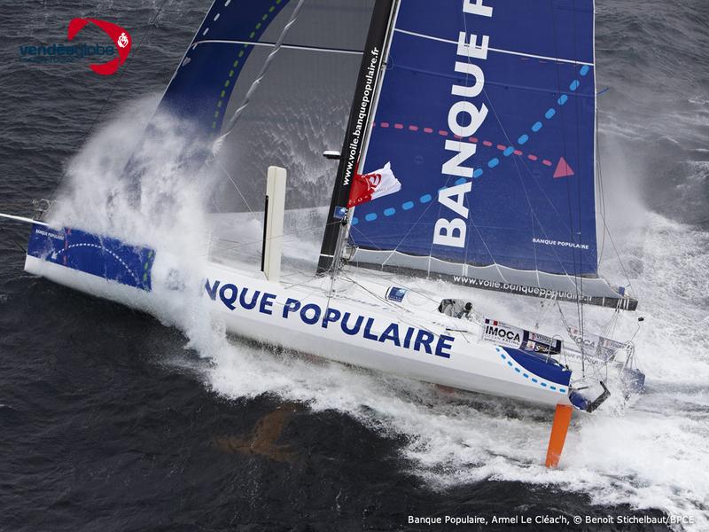IMOCA 60' BANQUE POPULAIRE - SKIPPER : ARMEL LE CLEAC'H - VENDEE GLOBE 2012 - LORIENT LE 24/09/2012