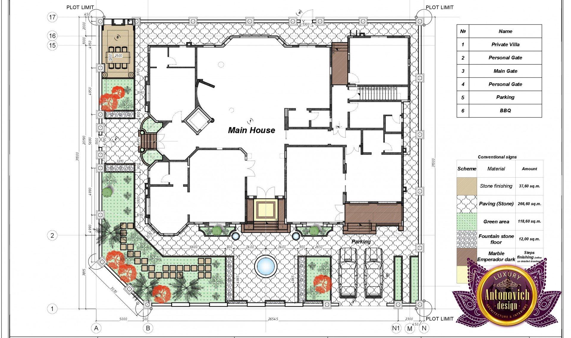 Villa Floor Plan In Dubai