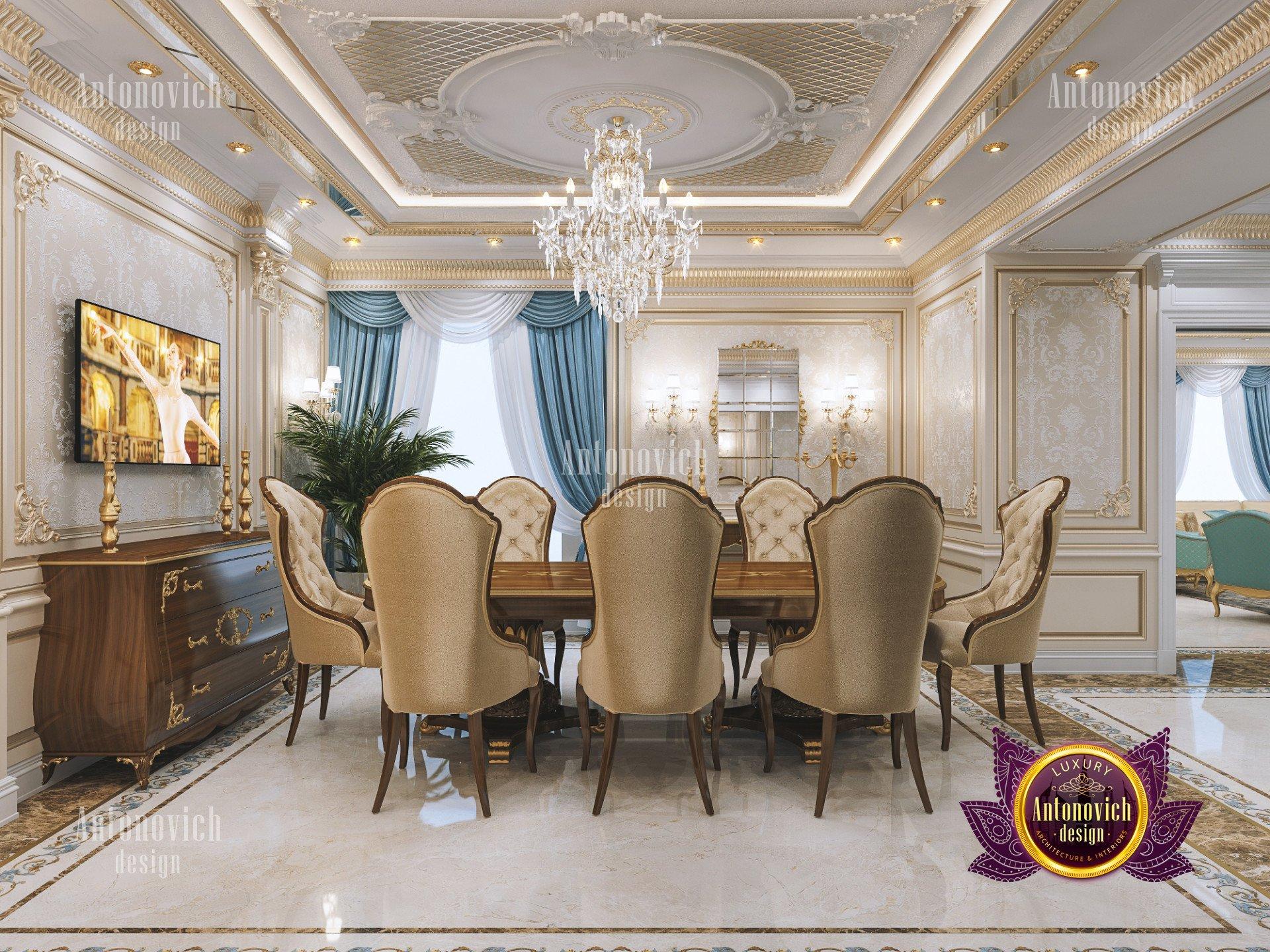 Classic dining room decoration - luxury interior design ... on Decor Room  id=81420