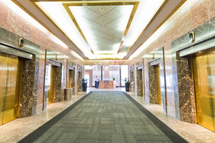 Altius elevator bank