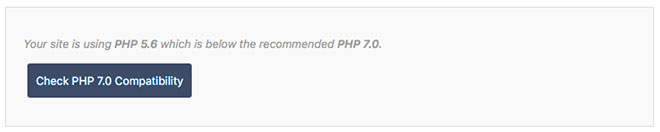 SiteGround PHP 7.0 Compatibility Check