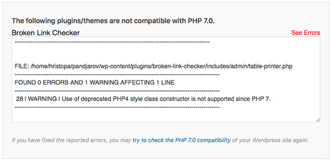 SiteGround PHP 7 Incompatible Plugins
